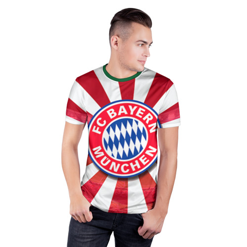 Мужская футболка 3D спортивная Bayern Фото 01