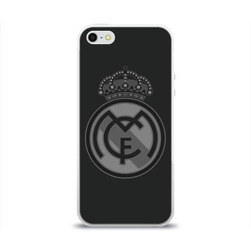 Чехол для Apple iPhone 5/5S силиконовый глянцевый Real Madrid