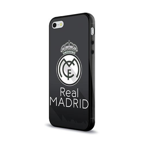 Чехол для Apple iPhone 5/5S силиконовый глянцевый Real Madrid Фото 01