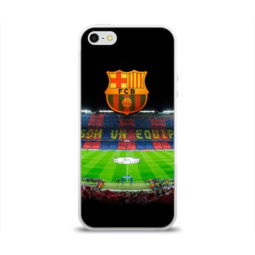 Чехол для Apple iPhone 5/5S силиконовый глянцевый  Фото 01, Barcelona4