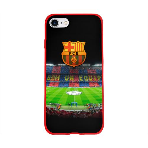 Чехол для Apple iPhone 8 силиконовый глянцевый Barcelona4