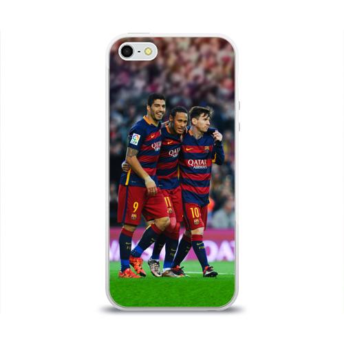 Чехол для Apple iPhone 5/5S силиконовый глянцевый  Фото 01, Barcelona5