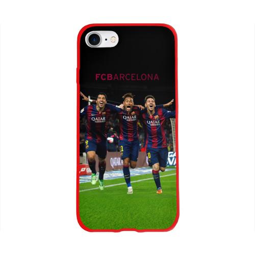 Чехол для Apple iPhone 8 силиконовый глянцевый Barcelona6