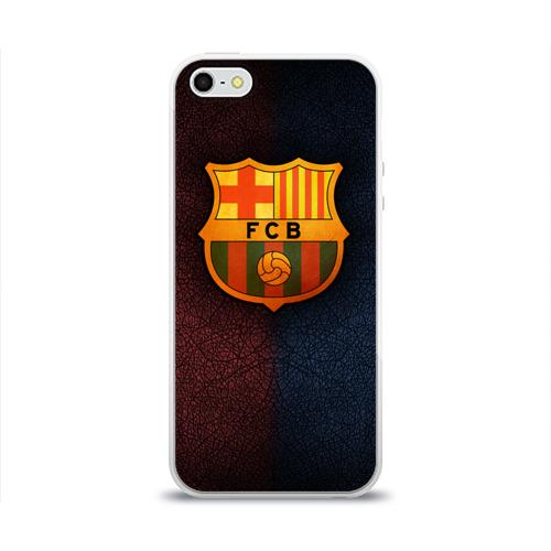 Чехол для Apple iPhone 5/5S силиконовый глянцевый Barcelona8