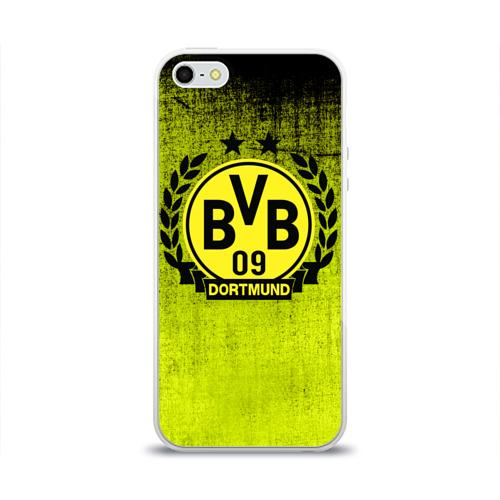 Чехол для Apple iPhone 5/5S силиконовый глянцевый Borussia5