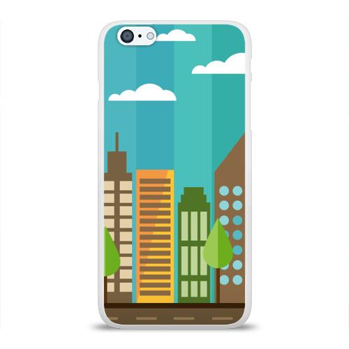 Чехол для Apple iPhone 6Plus/6SPlus силиконовый глянцевый  Фото 01, Город