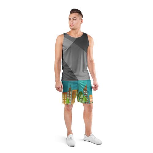 Мужские шорты 3D спортивные  Фото 04, Город