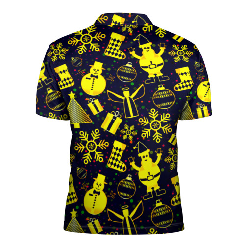 Мужская рубашка поло 3D  Фото 02, Новогодний