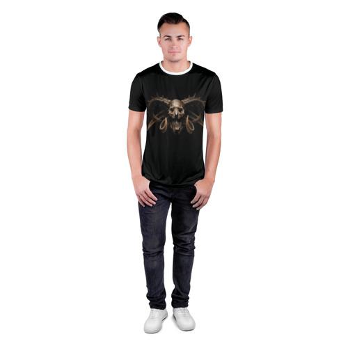 Мужская футболка 3D спортивная  Фото 04, Череп