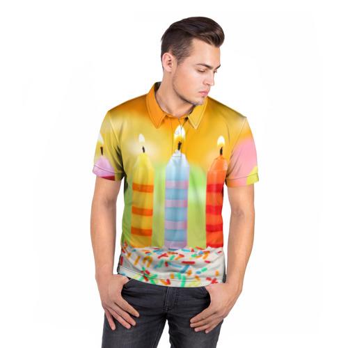 Мужская рубашка поло 3D  Фото 05, Цвета радости