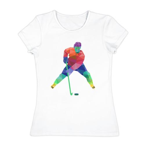 Женская футболка хлопок Хоккеист