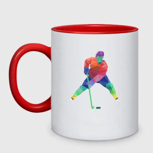 Кружка двухцветная Хоккеист