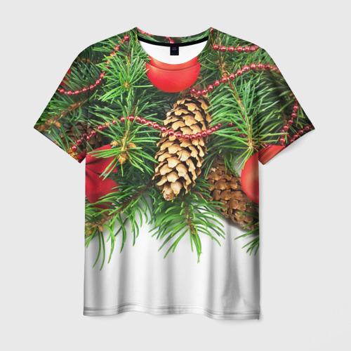 Мужская футболка 3D  Фото 01, Дуx рождества