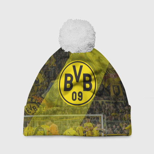 Шапка 3D c помпоном Borussia