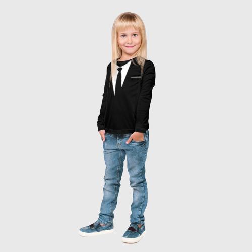 Детский лонгслив 3D  Фото 04, Галстук
