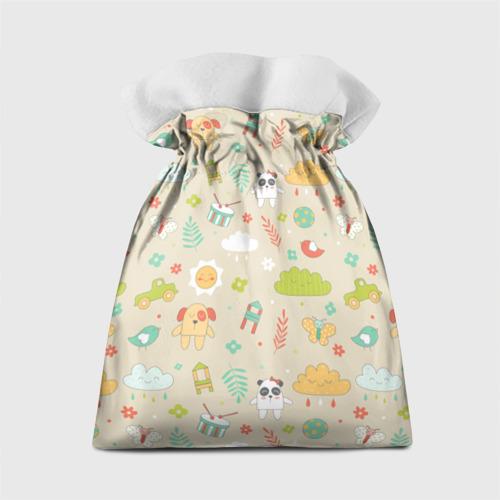 Подарочный 3D мешок  Фото 02, Детский узор