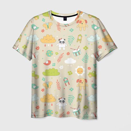 Мужская футболка 3D Детский узор