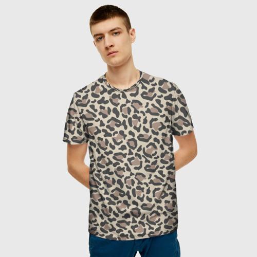 Мужская футболка 3D Шкура леопарда 3 Фото 01