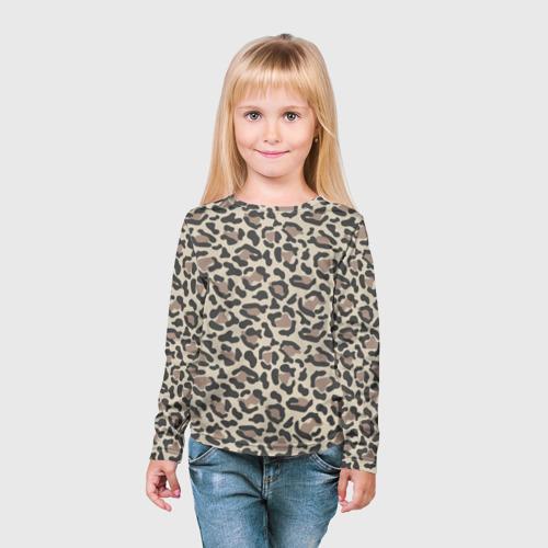 Детский лонгслив 3D Шкура леопарда 3 Фото 01