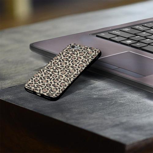 Чехол для Apple iPhone 8 силиконовый глянцевый Шкура леопарда 3 Фото 01