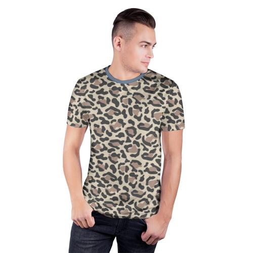 Мужская футболка 3D спортивная Шкура леопарда 3 Фото 01