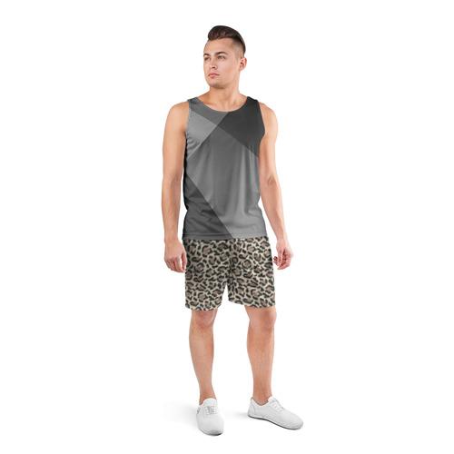 Мужские шорты 3D спортивные  Фото 04, Шкура леопарда 3