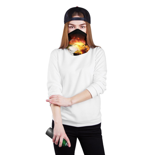 Бандана-труба 3D  Фото 02, Огненная стихия