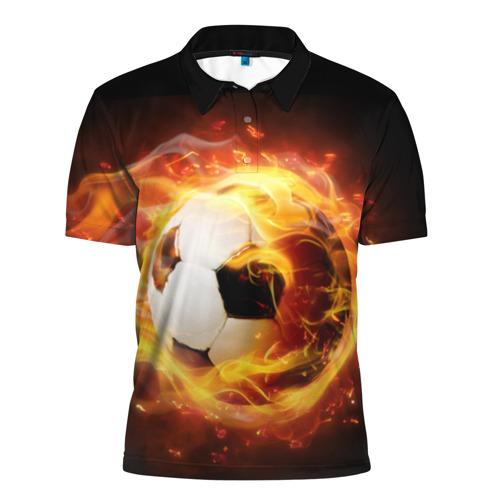 Мужская рубашка поло 3D Огненная стихия