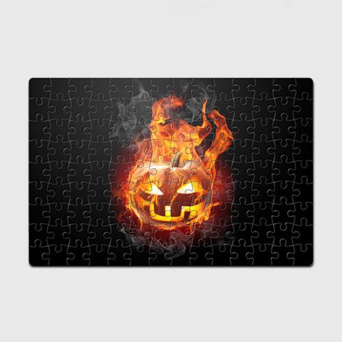 Пазл магнитный 126 элементов  Фото 01, Огненная стихия хэллоуин
