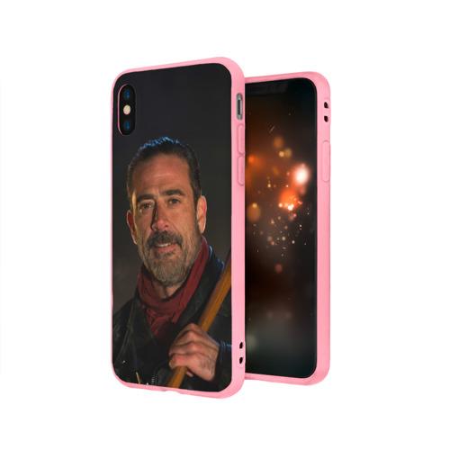 Чехол для Apple iPhone X силиконовый матовый Boss Фото 01