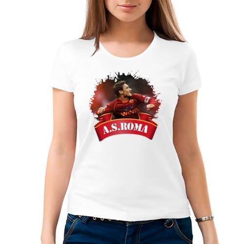 Женская футболка хлопок  Фото 03, Forza_Roma