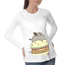 Котик с бургером