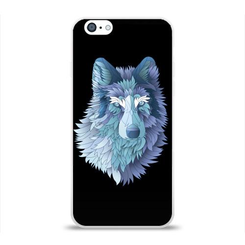 Чехол для Apple iPhone 6 силиконовый глянцевый  Фото 01, Седой волк