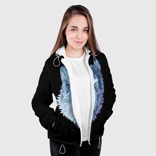 Женская куртка 3D  Фото 04, Седой волк