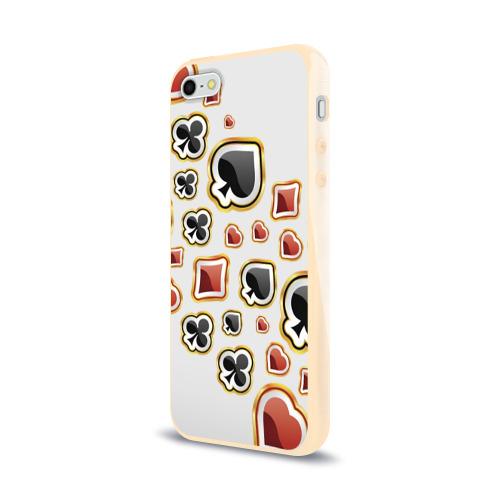 Чехол для Apple iPhone 5/5S силиконовый глянцевый  Фото 03, World Poker