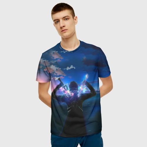 Мужская футболка 3D Мастера меча онлайн Фото 01