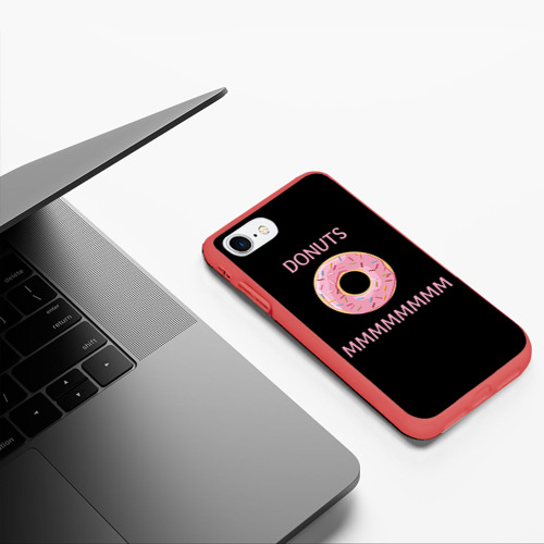 Чехол для iPhone 7/8 матовый Donuts Фото 01
