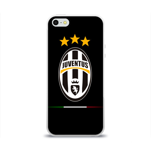 Чехол для Apple iPhone 5/5S силиконовый глянцевый Juventus1
