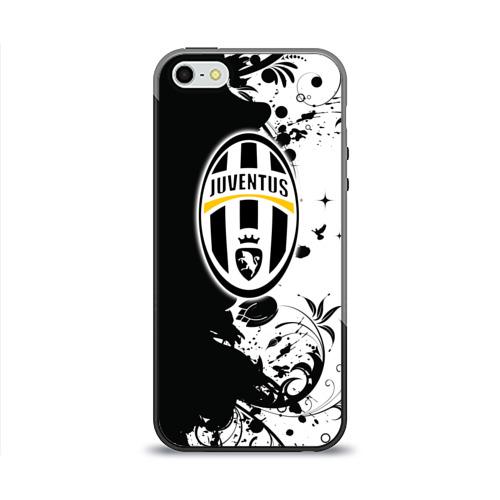 Чехол для Apple iPhone 5/5S силиконовый глянцевый  Фото 01, Juventus4