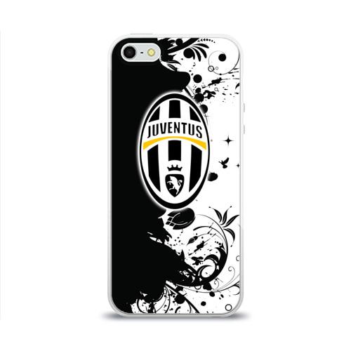 Чехол для Apple iPhone 5/5S силиконовый глянцевый Juventus4