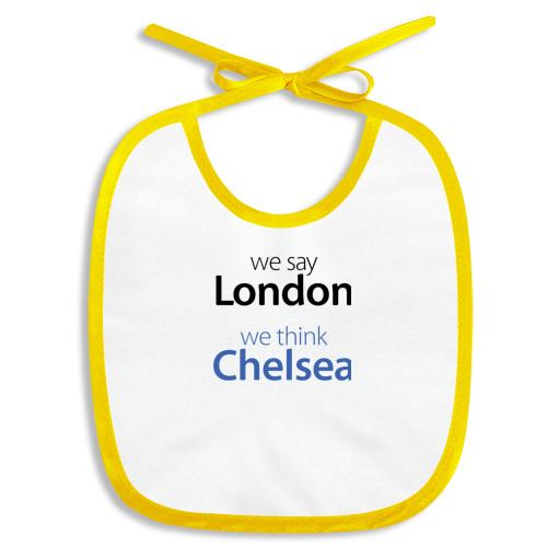 Слюнявчик We say London we thihk Chelsea Фото 01