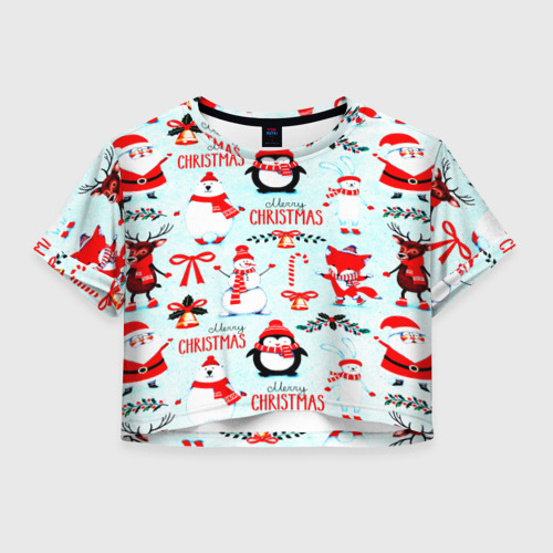 Женская футболка Cropp-top Christmas Фото 01