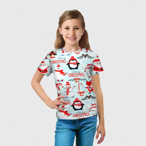 Детская футболка 3D Christmas Фото 01