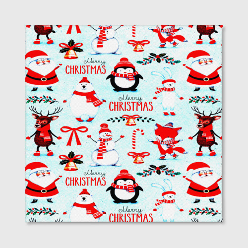 Холст квадратный Christmas Фото 01