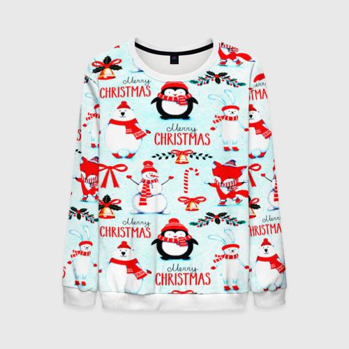 Мужской свитшот 3D Christmas Фото 01