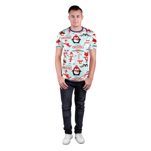 Мужская футболка 3D спортивная Christmas Фото 01