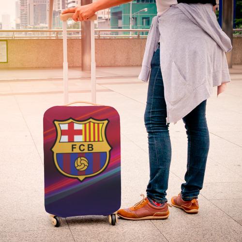 Чехол для чемодана 3D ФК Барселона Фото 01
