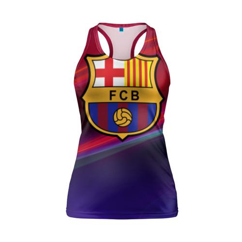Женская майка 3D спортивная ФК Барселона Фото 01