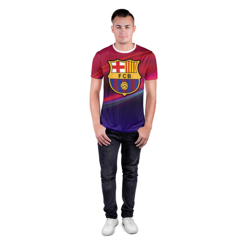 Мужская футболка 3D спортивная ФК Барселона Фото 01