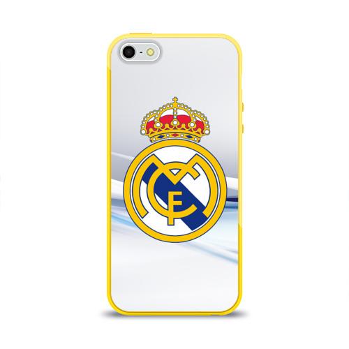 Чехол для Apple iPhone 5/5S силиконовый глянцевый Реал Мадрид Фото 01